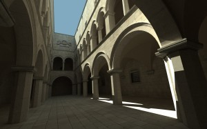 Sponza, featuring a simple path tracer and diffuse surfaces