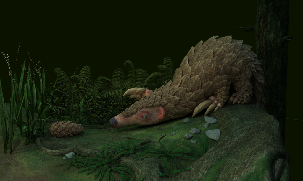 Rendering of a Pangolin